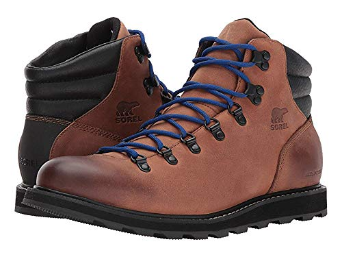 (Sorel Mens Madson Hiker Leather Waterproof Walking Hiking Ankle Boots - Elk/Black - 10 )