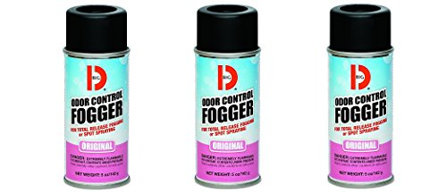 Big D 341 Odor Control Fogger, Original Fragrance, 5 oz (Pack of 12) - Kills odors from fire, flood, decomposition, skunk, cigarettes, musty smells - Ideal for use in cars, property manageme (3 PACK) by Big D