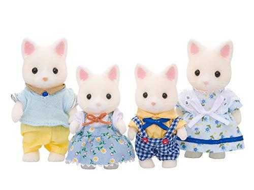 실바니안 패밀리 인형 실크 고양이 가족 FS-12 / 고양이 가족 + 실바니아 패밀리의 갈아 바꾸어 BOOK 세트