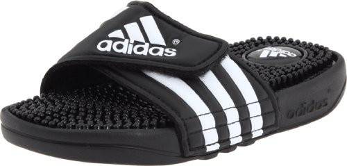 adidas Adissage Sandal (Toddler/Little Kid/Big Kid),Black/White/Black,6 M US Big Kid (Kids Slide Shoes)