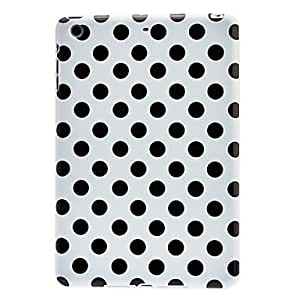 get Black Round Dots Pattern TPU Soft Case with Interior Matte Protection for iPad mini