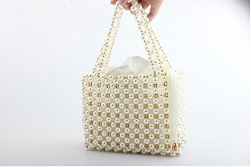 mariage White de partie Perle sac sac dames sac clubs pour pochette fait banquet sac de perlé main soirée main à de les 1Tq1RU