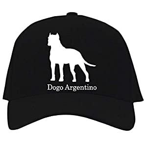 Idakoos Dogo Argentino Silhouette Baseball Cap Black 23