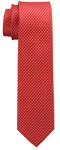 Premium Tie Pin Coral 7 Navy Black Various Signature 5 Wrapping Pink Cm Gift 100 Colors Box Pink Silk Dot ErqrH