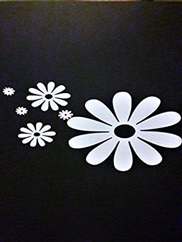 Daisy Flower Hippie Free Spirit |White|Cars Trucks Wall Decals Mural Decor Vinyl
