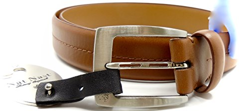 Nat Nast Belt Luxury Original Italian Leather Metal Buckle Logo Nordstrom Rack  42  Brown