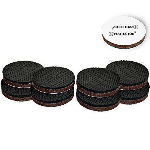 """Non Slip Furniture Grippers X-PROTECTOR – Premium 8 pcs 2"""" Furniture Pads! Best SelfAdhesive Rubber Feet for Furniture Feet – Ideal Non Skid Furniture Floor Protectors for Fixation in Place Furniture (Furniture Pine Leg)"""