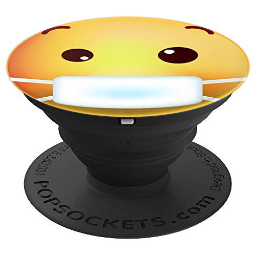 Funny Emoji of Face With Medical Mask Emoticon Best Gift - PopSockets Grip and Stand for Phones and Tablets