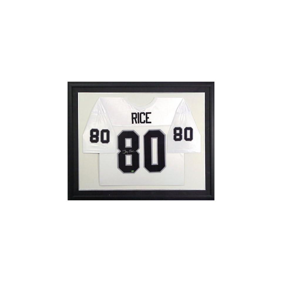 Jerry Rice Signed Uniform   FRAMED BLACK