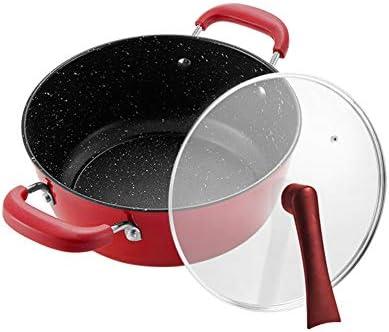 Küchengeschirrset Topfgarnitur Kochgeschirrset, Kochgeschirrset Antihaft-Wok-Suppentopf zweiteilig kann Vertikaldeckel Universalofen stehen
