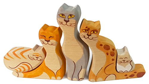 The Cat Family Handcrafted Jigsaw Puzzle in a