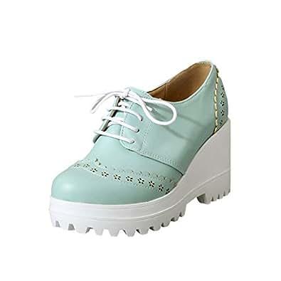 Amazon.com | Latasa Womens Cute Floral Platform High Heel Wedge Oxford Shoes | Oxfords