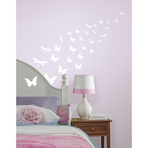 RoomMates Butterflies & Dragonflies Glow In The Dark Wall Decals ()