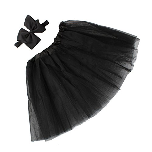 Costume Of Different Nation (♥ Nation Baby Newborn Toddler Puff Skirt Headband Hairband Flower Photography (Black))
