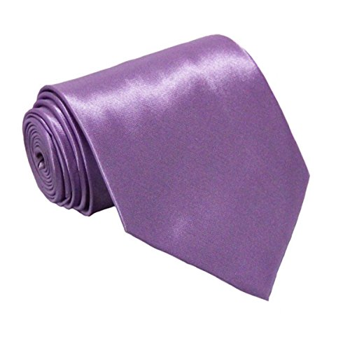 Soophen NEW Mens Necktie SOLID Satin Neck Tie Light Purple
