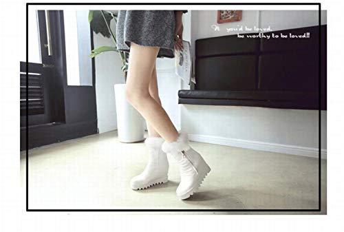Blanco Xdx 34 De Con Mujer botas Algodón Cortas Aumentadas Invierno Para Plano Fondo Botas Calientes Redonda 43 Cabeza botas Antideslizantes Occidental rBUWBRz