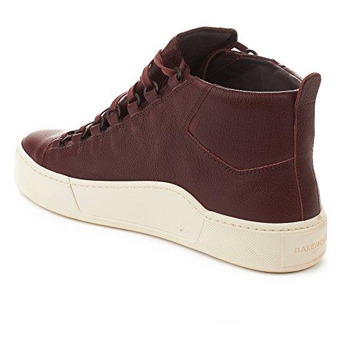 Balenciaga Heren Arena Leer Hoge Schoenen Sneakers Bourgondië