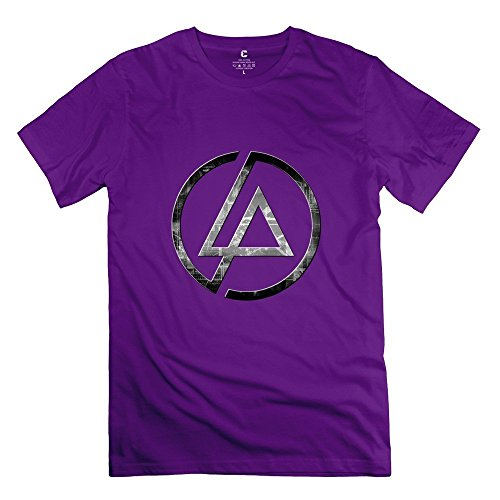 Linkin Park P 100% Cotton T Shirts For Mens Purple XXL Simple Style - Glover Donald Style