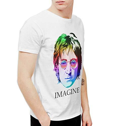 Douglas-A Mens Fashion John Lennon Tshirt White