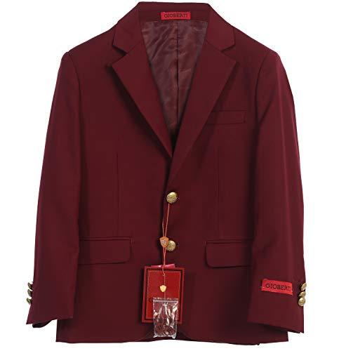 Gioberti Big Boys Formal Burgundy Blazer Jacket, Size 10 (Jackets Coats Childrens)