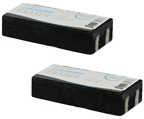 Traditional Chalkboard Eraser, All Felt 6 Inch Premium Quality Chalk Eraser, Set of 2 (2 Pack) by kedudes (Image #2)
