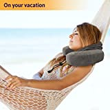 Hooded Neck Pillow and Silicone Ear Plugs, Premium