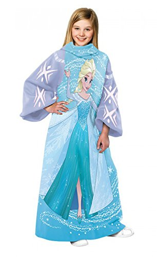 Disneys Frozen Elsa Comfy Throw Character Blanket with Sleeves by Disney Frozen (Image #1)