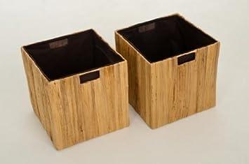 Ikea Holzkiste 2 regalkörbe box tao für ikea expedit kallax natur 32cm
