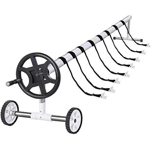 Yaheetech 21-feet Wide Inground Solar Cover Reel System for Swimming ()