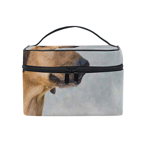 Cosmetic Bag Dog Heaven Womens Makeup Organizer Girls Toiletry Case Box Lazy Zip Bag