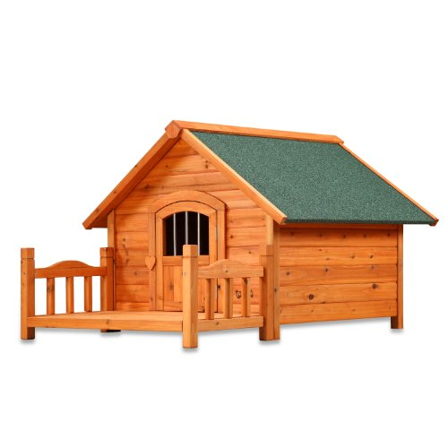 Pet Squeak Large Dog House With Porch