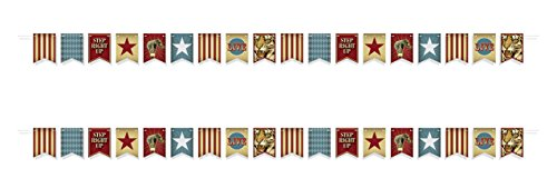 Beistle 54983 Vintage Circus Streamer, Multi-Colored -