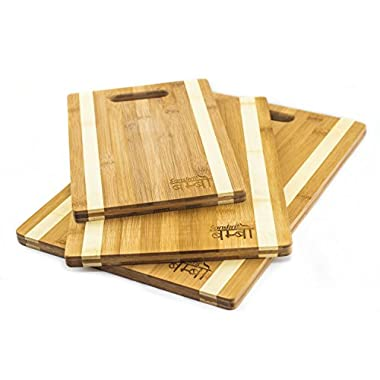 Sanskrit™ by Gammelberg, 3-Piece Bamboo Cutting Board