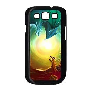 fire dragon vs water dragon Samsung Galaxy S3 9300 Cell Phone Case Black xlb2-234537