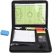 XinPengtai Football Board, Zippers Magnetic Tactic Cli oard, Multifunction Coaching Strategy Board Kit, Foldab
