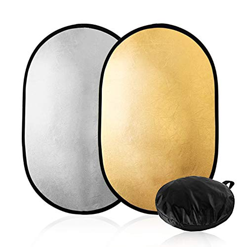 "Julius Studio 24"" x 36"" (60cm x 90cm) 2 in 1 Photography Studio Collapsible Multi-Photo Disc Reflector, JGG2422 from Julius Studio"
