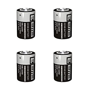 3.6 Volts Professional Lithium Batteries 1/2 AA - ER14250 (1200 mAh - Not Rechargeable - 4 pieces) - EEMB