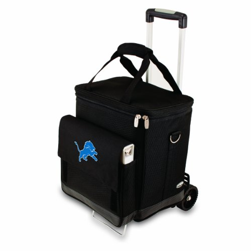 Trolley 6 Bottle - NFL Detroit Lions Insulated Cellar Six Bottle Wine Tote with Trolley