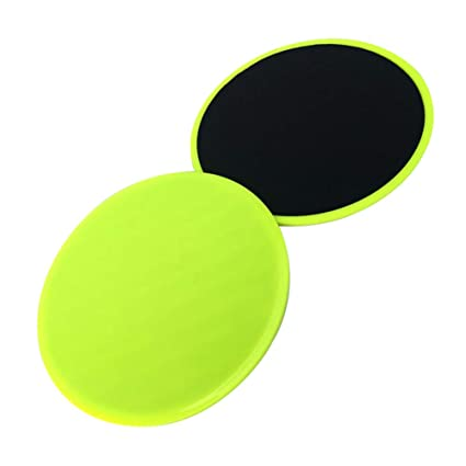16d58d705 Asosmos 2 Pcs Core Gliding Discs Slider Fitness Disc Exercise Sliding Plate  for Yoga Gym Abdominal Training (Yellow)  Amazon.in  Sports