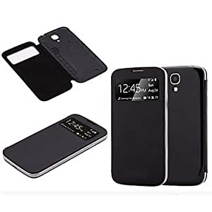 JOE S-View Flip Cover Folio Case for Samsung Galaxy S4 I9500 (Assorted Colors) , Black