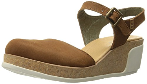 N5001 Pleasant Wood/Leaves Leather Woman 37 Sandals Buckle NsWvR4zf