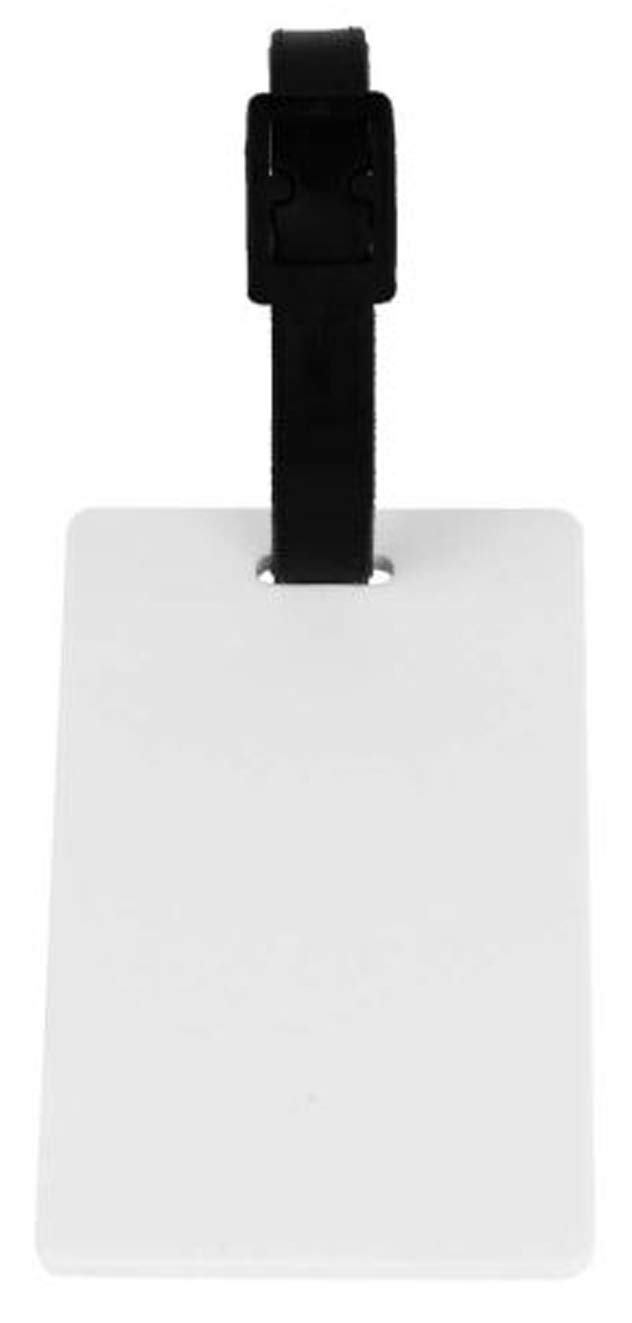 POLYMER SUBLIMATION HEAT TRANSFER LUGGAGE TAG BLANK WHITE 10 Pcs. 8,4 x 5,3 cm by SFS BLANK