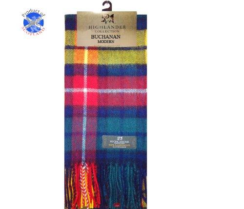iLuv Buchanan Tartan Scarf Modern Lambswool