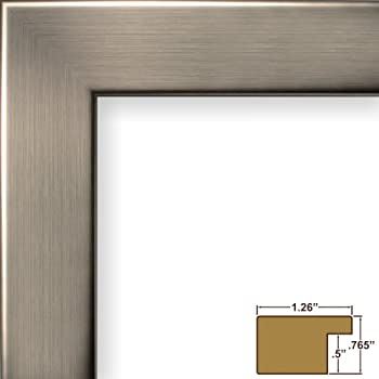 craig frames 26966 20 by 30 inch picture frame smooth wrap finish 126 inch wide silver stainless