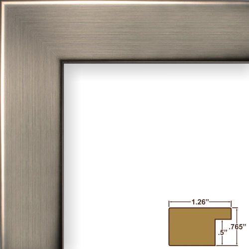 Craig Frames 26966 20 by 27-Inch Picture Frame, Smooth Wrap Finish, 1.26-Inch Wide, Silver Stainless (27 Metal)