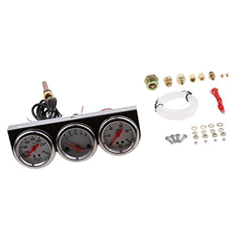 Dovewill 2'' 52mm Water Temperature+Oil Pressure+Voltmeter Gauges for Car (2' Voltmeter)
