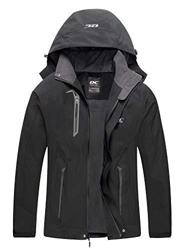 Diamond Candy Men Hooded Waterproof Jacket Lightweight Rain Jacket Outdoor Casual Sportswear