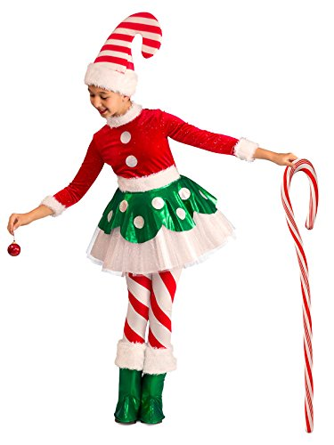 Princess Paradise Candy Cane Elf Princess Costume,