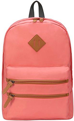 Gysan Lightweight Waterproof Travel Backpacks Fits 14Inch Laptop Campus School Bookbags, (Pink The Store Bookbags)