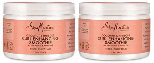 (Shea Moisture Coconut & Hibiscus Curl Enhancing Smoothie 12 Oz, Pack of 2)